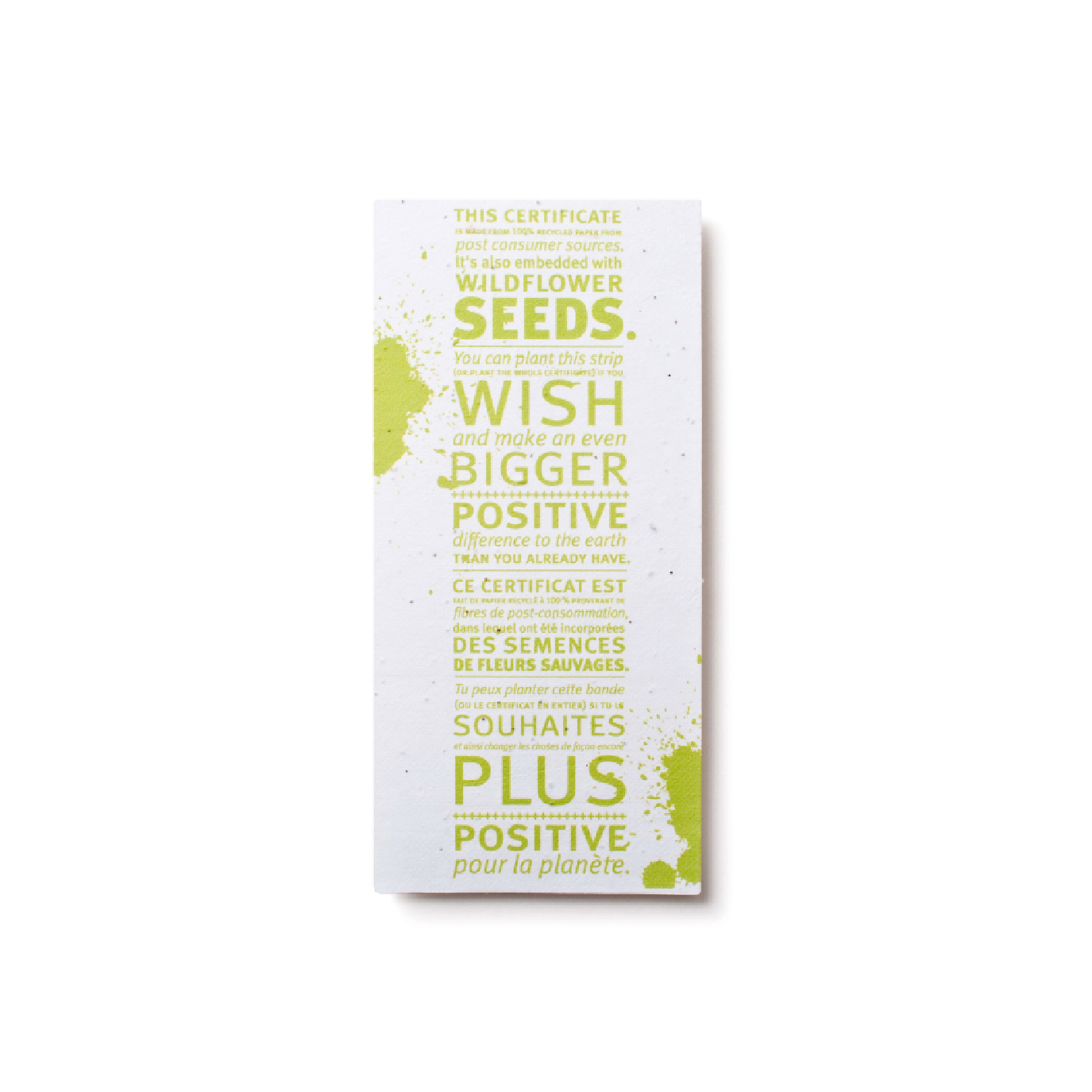 personalized growable recycled paper post card