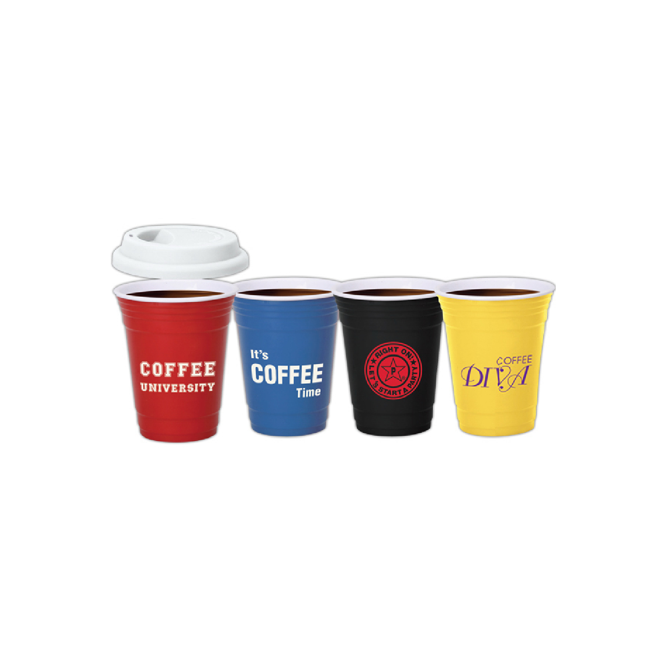 reusable ceramic coffee event cups