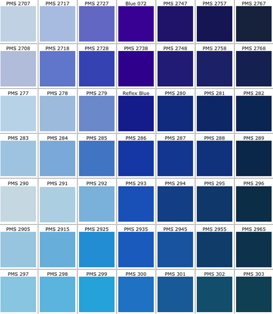 pms color chart real access