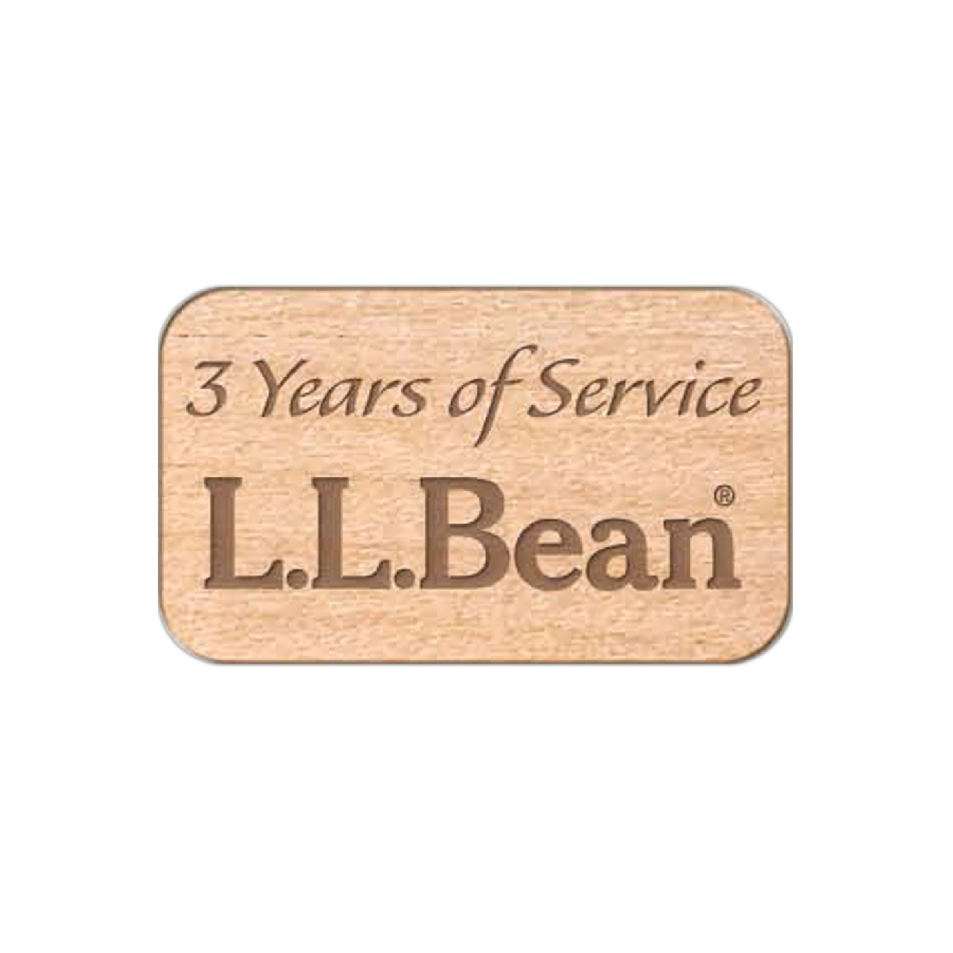 personalized wood lapel button