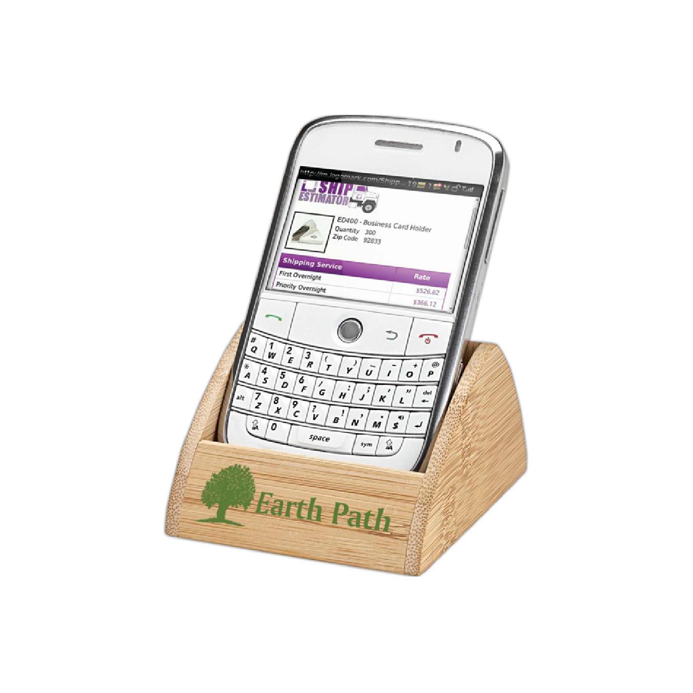 custom branded wooden cell phone holder