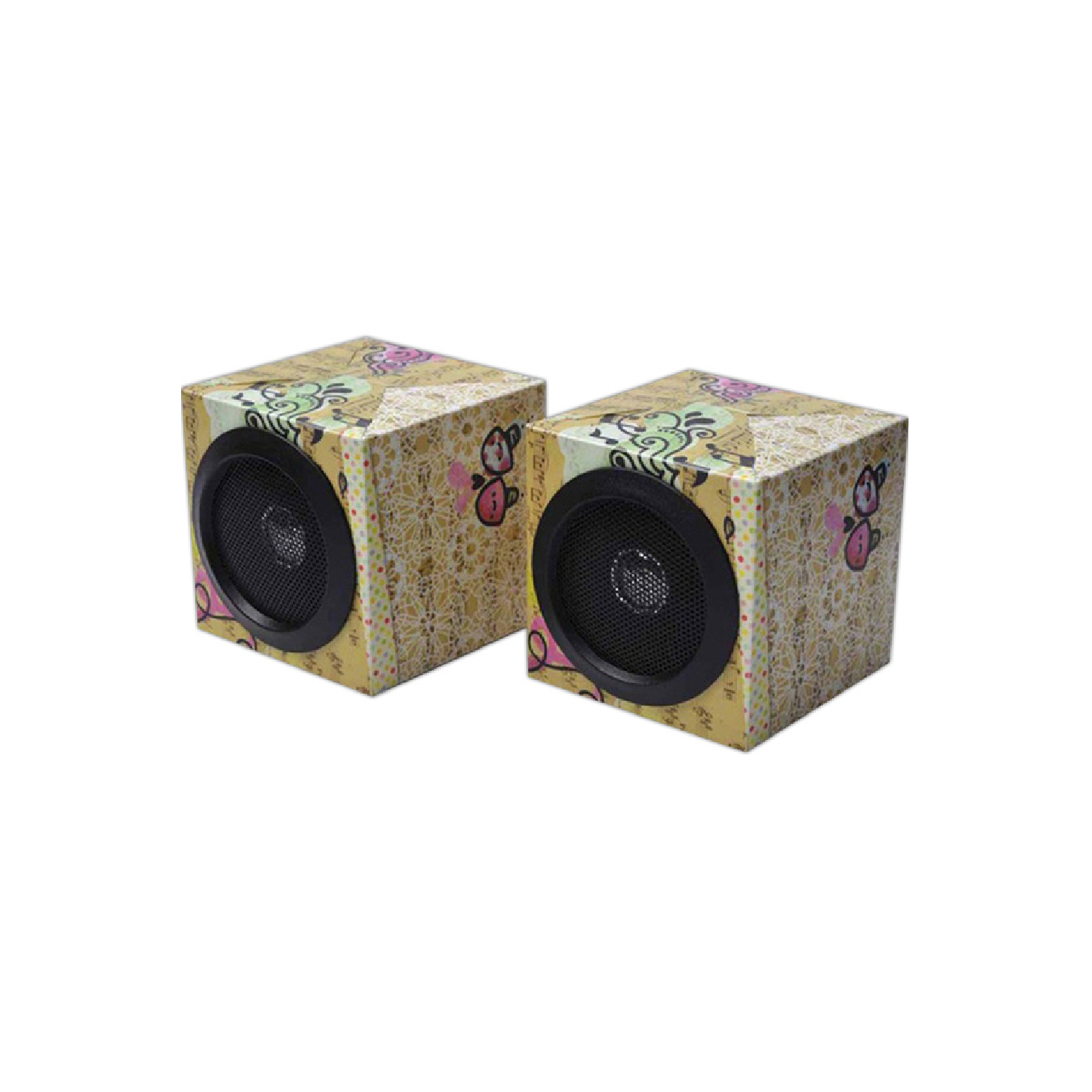 custom recycled paper speakers