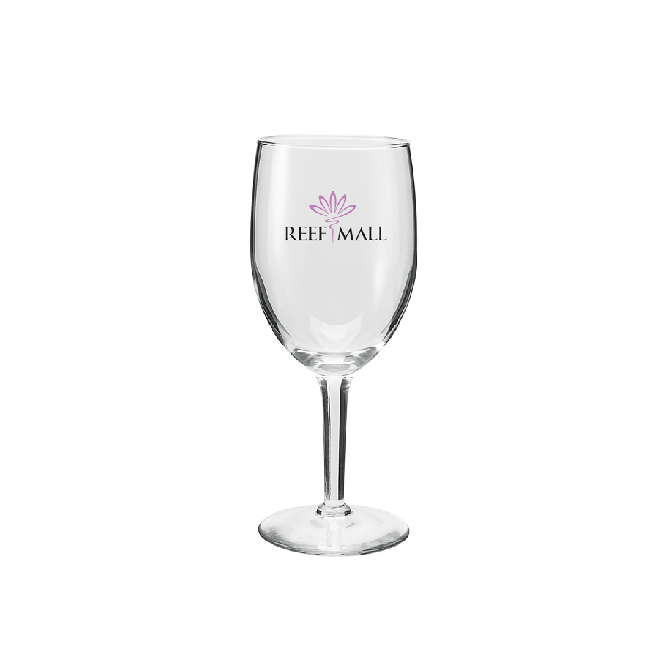personalized recycled wine glass