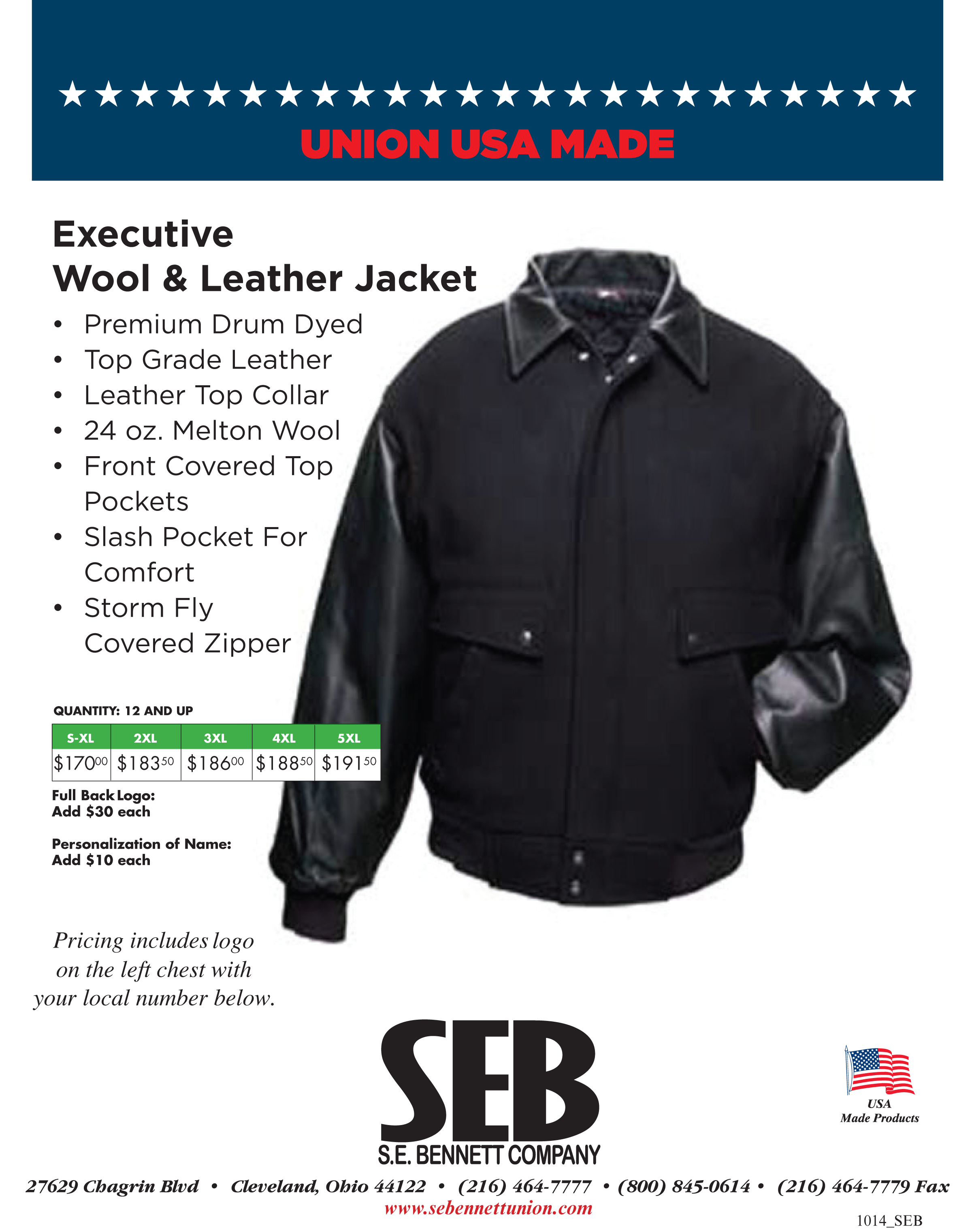Wool & Leather Jacket Flier