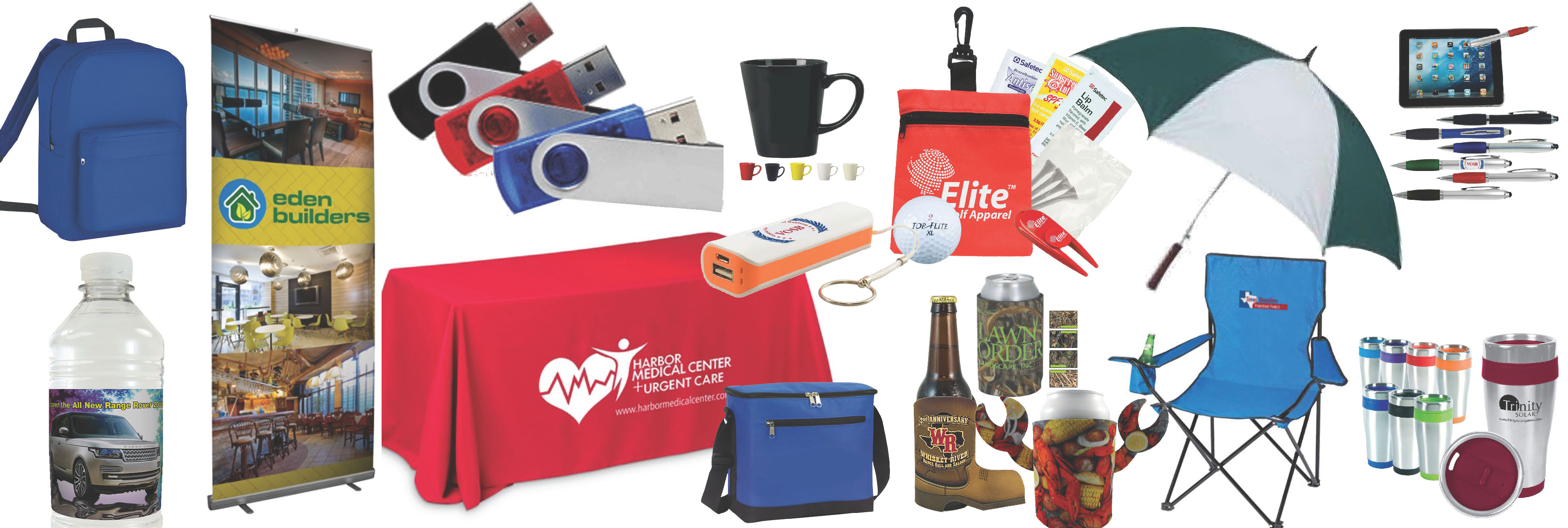 Promotional products banner for Texas Branders Promotional Products, Houston, TX