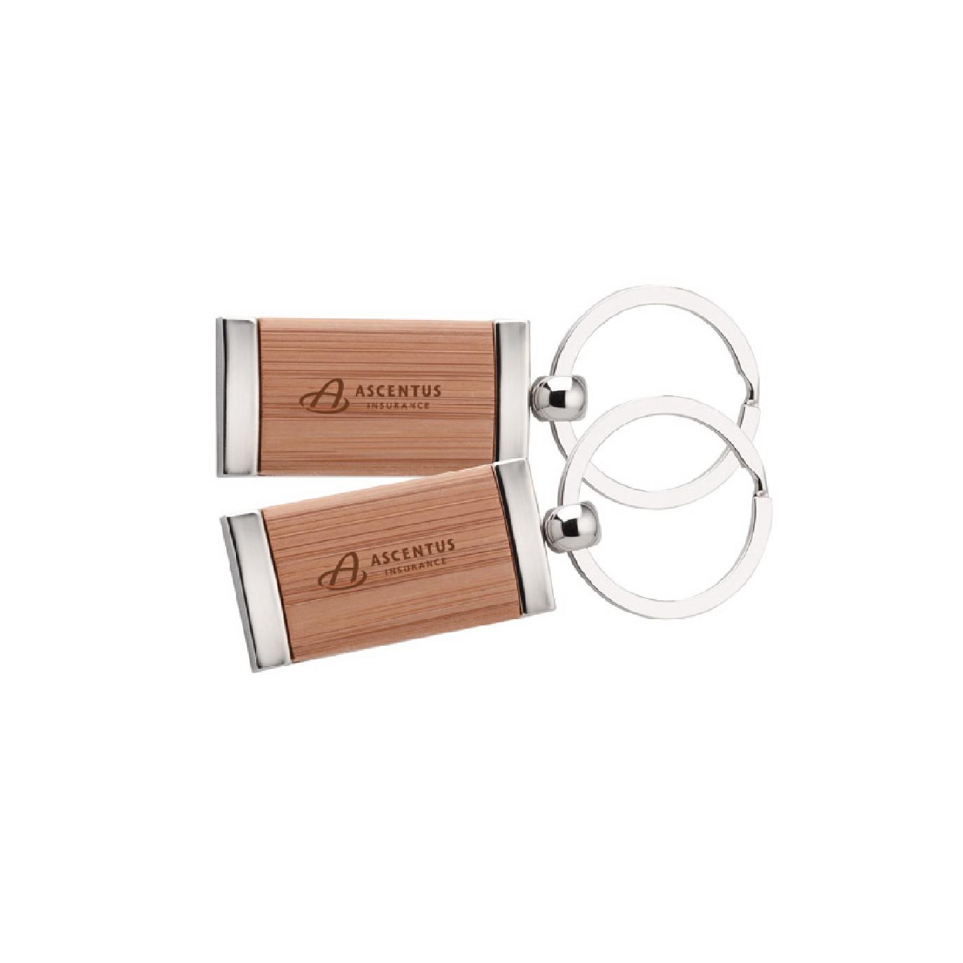 custom engraved bamboo keychain